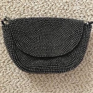 Antheopologie small beaded clutch